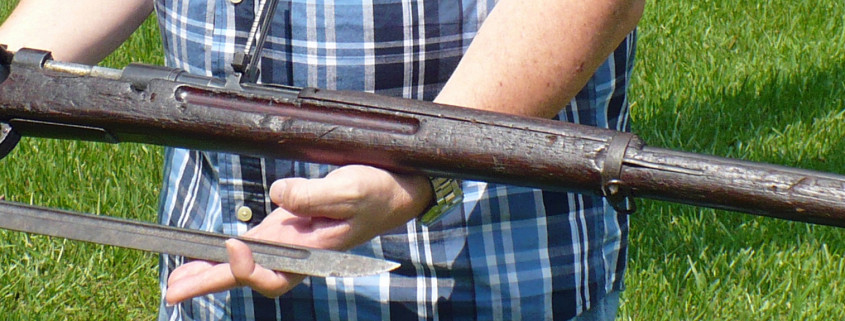 Japanese Arisaka Type 38 rifle and bayonet
