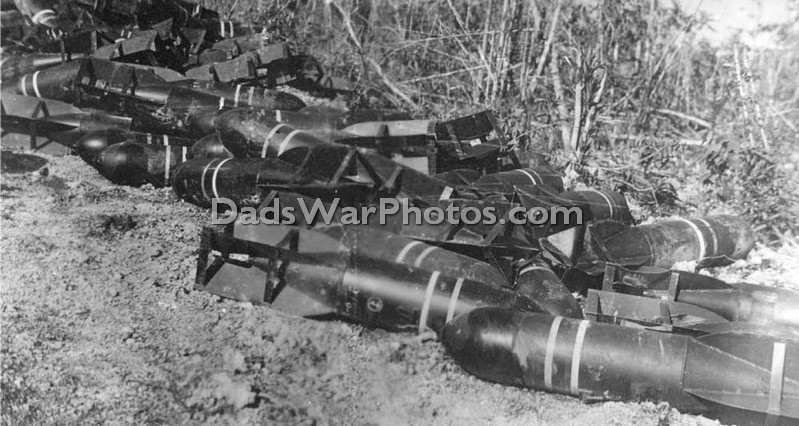 Captured Japanese bomb dump.