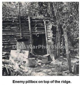 Enemy Pillbox on top of the ridge